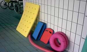 Equipamento, piscina., fortalecimento muscular, fisioterapia e reabilitação