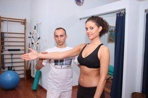 Ciriax diagnóstico, os testes do bíceps do movimento do ombro, ombro e braço ou mobilização, pós-cirurgia, dor, mágoa, os sintomas da inflamação,