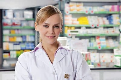 Menina,farmacêutico