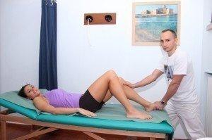 Teste de mobilidade,joelho,dor,inflamação, mau, estalos articulares,osteopatia
