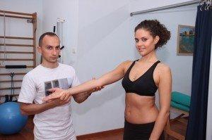 Avaliação de ombro,diagnóstico,movimento do braço