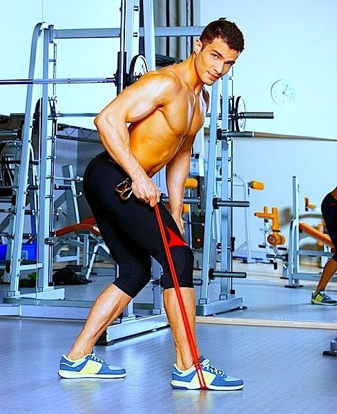 Puxar para trás, academia, reforço, ombro,elástico, força, muscular dashek-bigstockphoto.com