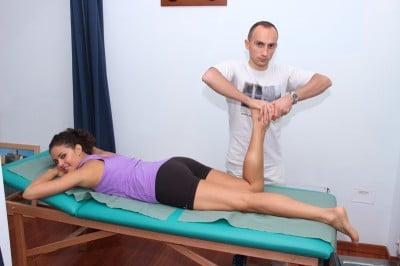 Teste para o menisco medial ou interno, mc murray com compressão dos meniscos
