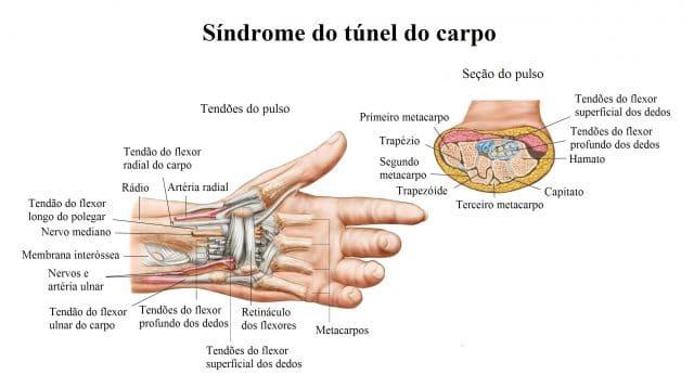 dor na palma do dedo médio