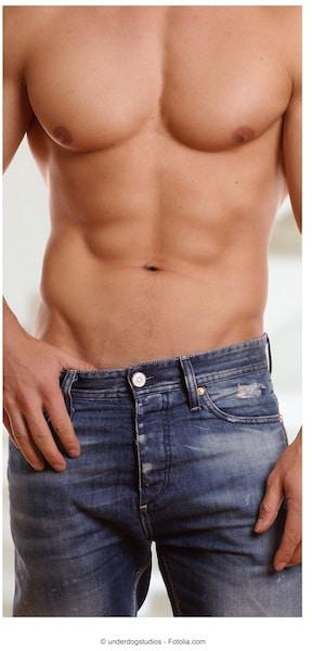 homem,músculos, músculos abdominais
