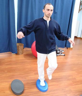 exercício de equilíbrio, almofada