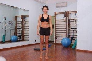 Ejercicio, pantorrilla, fisioterapia, rehabilitación, gimnasio
