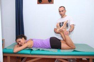 Evaluación, elasticidad, cuádriceps estiramiento, cuádriceps, rodilla