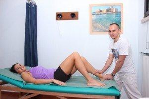 la movilidad del tobillo de prueba, dolor, inflamación