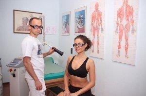 Láser terapia por dolor, nervio, tendinitis, músculo, contractura