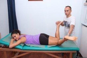 Prueba de músculo piriforme, pelvis, flexión