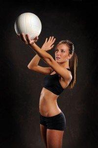 jugador de voleibol, hombro, tendinitis, bíceps