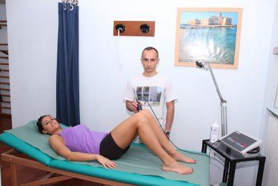Terapia con ultrasonido, dorso, espalda, pelvis, rodillas, refuerzo, estiramiento, postura, dolor, lumbalgia, fisioterapia y rehabilitación, raquis, pies, espalda, gel, tendón