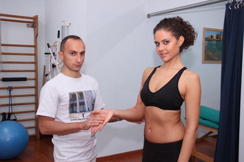 Epitrocleitis, estiramiento, ejercicio, fuerza, prueba, dolor