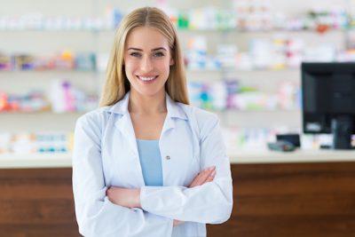 Chica,farmacéutico