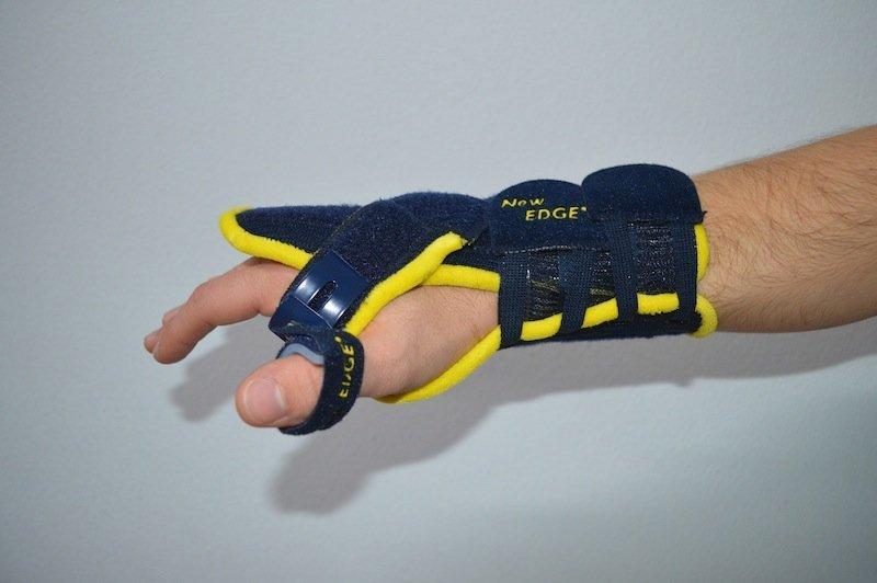 tutor, pulgar, muñeca, mano, dolor, tendinitis, lesión, fractura