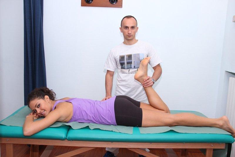 fisioterapia, rehabilitación, fractura, diáfisis del fémur, el dolor, el dolor, la recuperación, el movimiento, doblar, romper