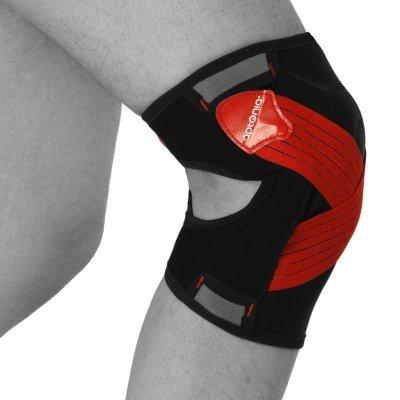 rodillera, post, accidente, dolor, rótula, ligamentos, contusión
