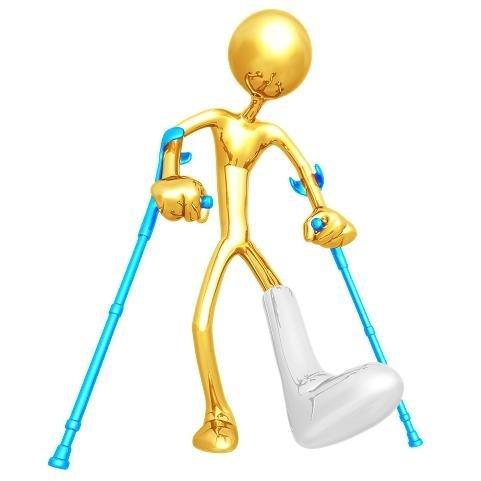 yeso, la pierna, el peroné, fractura, dolor, apoyo, piegde