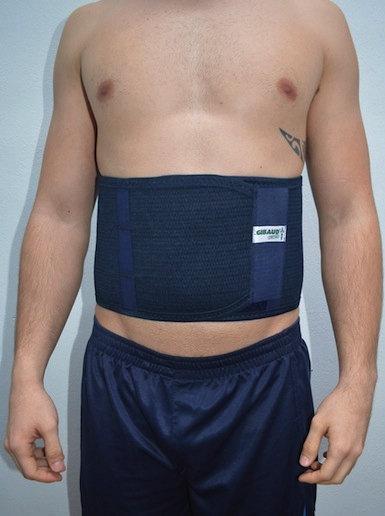 Busto, ortopédico, tutor, espalda, dolor, apoyo, malo, derecha, columna, vertebral
