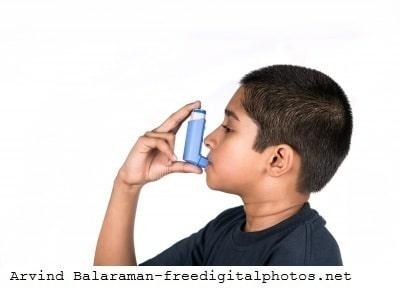 Inhalador, corticosteroides, asma