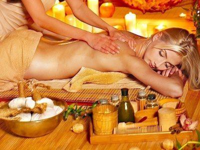 masaje, aceite de oliva, espalda, cara