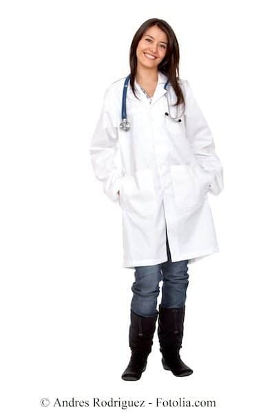 doctora, bata blanca
