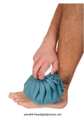 Foto: bolsa para el hielo, inflamación