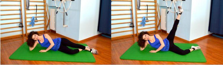levantamiento lateral de pierna acostados